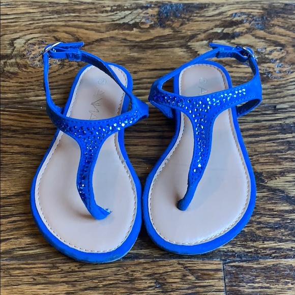 b5ebc1438ee5 Royal Blue Sparkly Toddler Sandals. M_5be48eb2c9bf508170141411